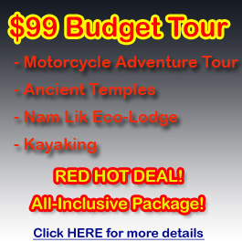 $99 Budget Tour - 1 day /+ 1 night in Laos countryside - click here!